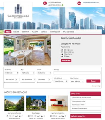 Site para imobiliárias Modelo 2