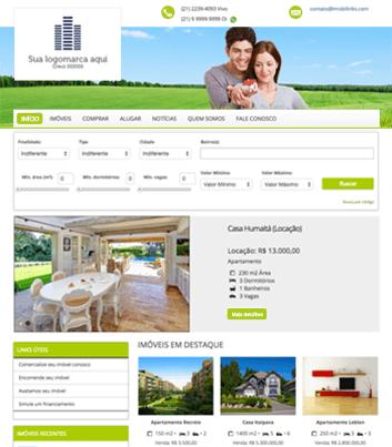 Site para imobiliárias Modelo 3