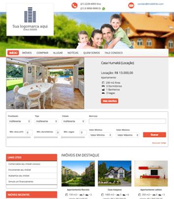 Site para imobiliárias Modelo 4