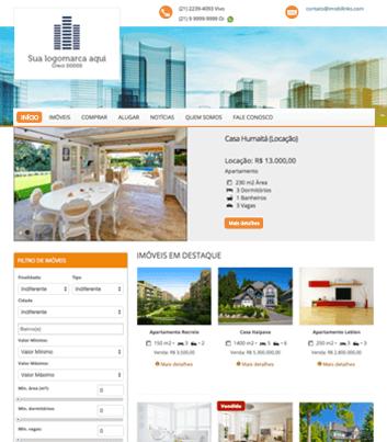 Site para imobiliárias Modelo 6