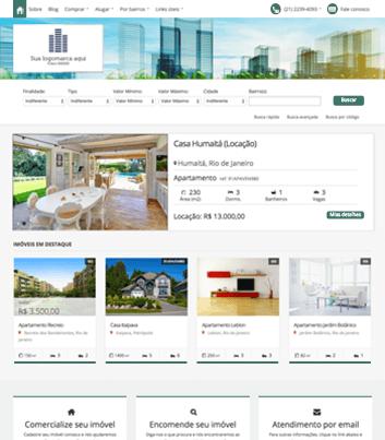 Site para imobiliárias Modelo 8