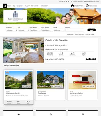 Site para imobiliárias Modelo 9