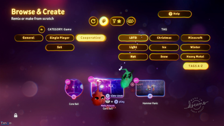 DreamsPS4 online multiplayer search filter