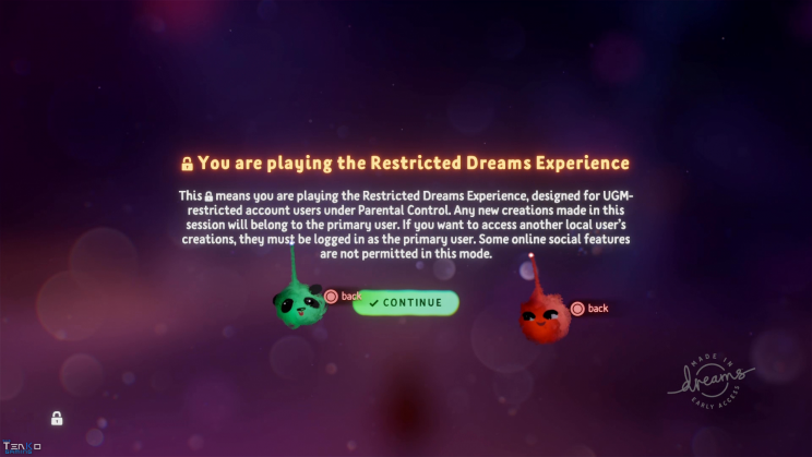 DreamsPS4 Restricted Experience