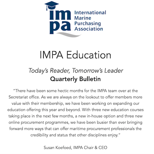 Read the latest from IMPA Education - IMPA.net