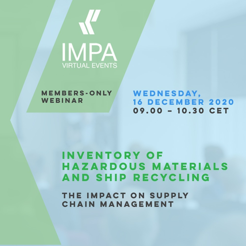 IMPA Member Webinar on IHM and Ship Recycling: The Impact on Supply Chain Management