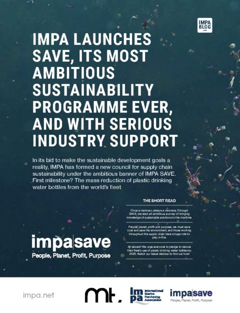 IMPA launches SAVE, its most ambitious sustainability programme ever, and with some serious industry support