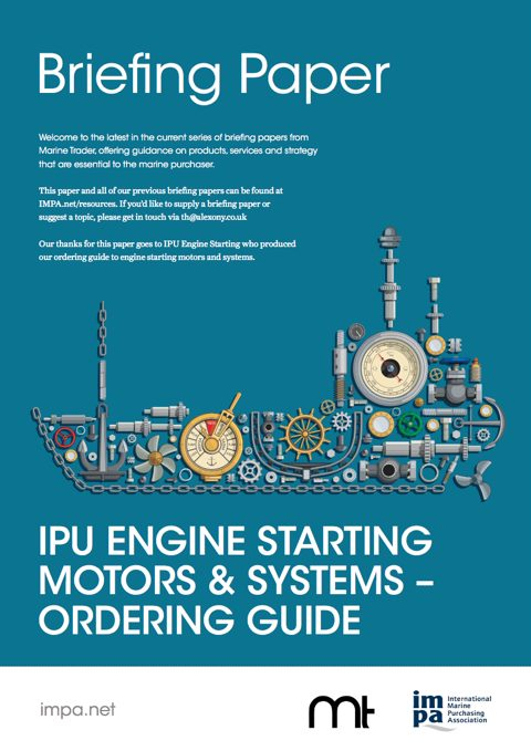 IPU Engine Starting Motors & Systems – Ordering Guide