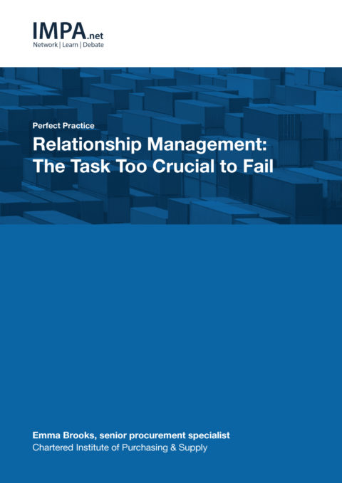 Relationship Management: The Task Too Crucial to Fail