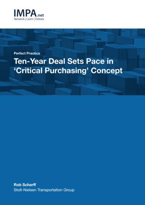 Ten-year deal sets pace in 'Critical Purchasing' concept