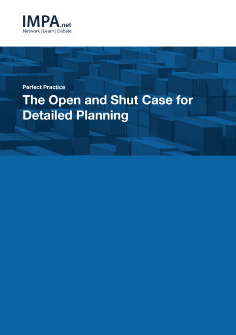 The Open and Shut Case for Detailed Planning