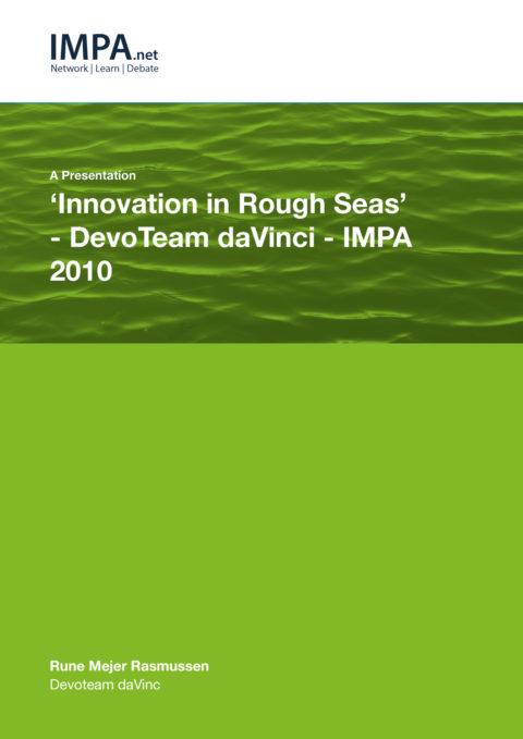 'Innovation in Rough Seas' – DevoTeam daVinci - IMPA