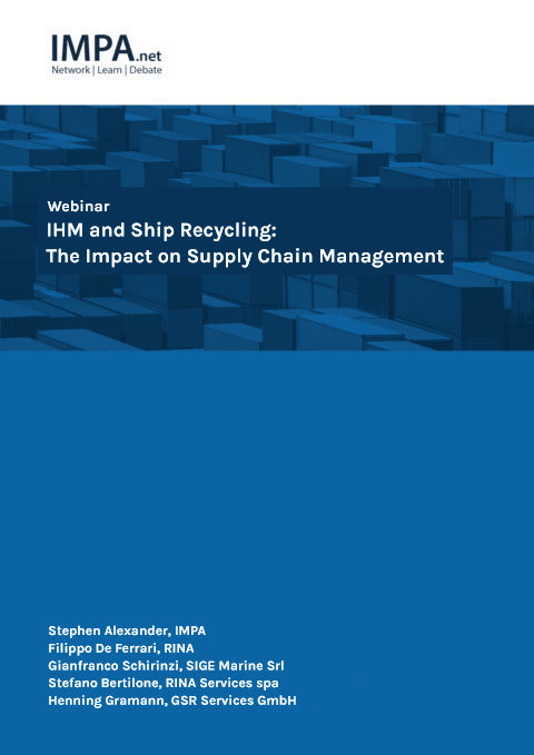 Webinar on IHM and Ship Recycling: The Impact on Supply Chain Management