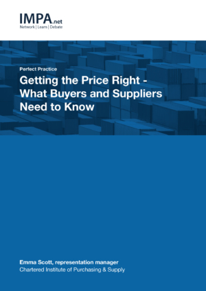 Getting the Price Right - What Buyers and Suppliers Need to Know