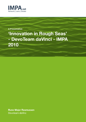 'Innovation in Rough Seas' – DevoTeam daVinci - IMPA