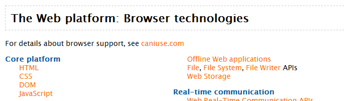 The Web platform: Browser technologies