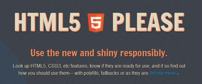 HTML5 Please