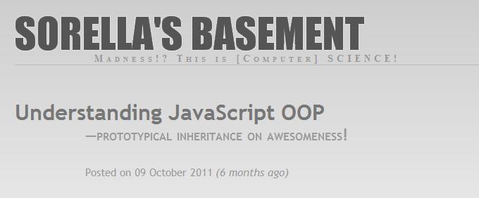 Understanding JavaScript OOP