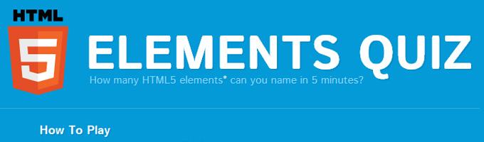 HTML5 Elements Quiz