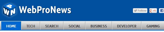 WebProNews' navigation