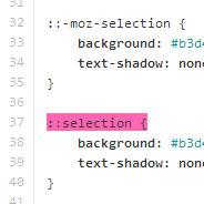 ::selection pseudo-element