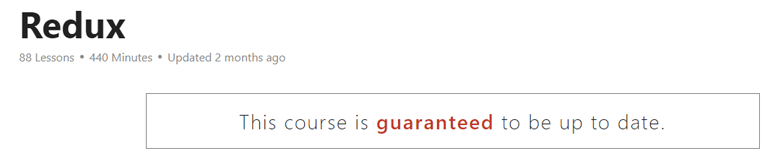 Redux Course