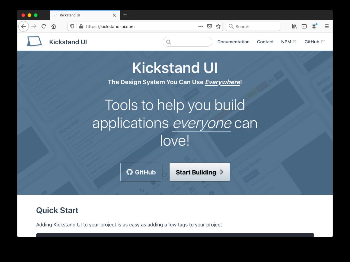 Kickstand UI