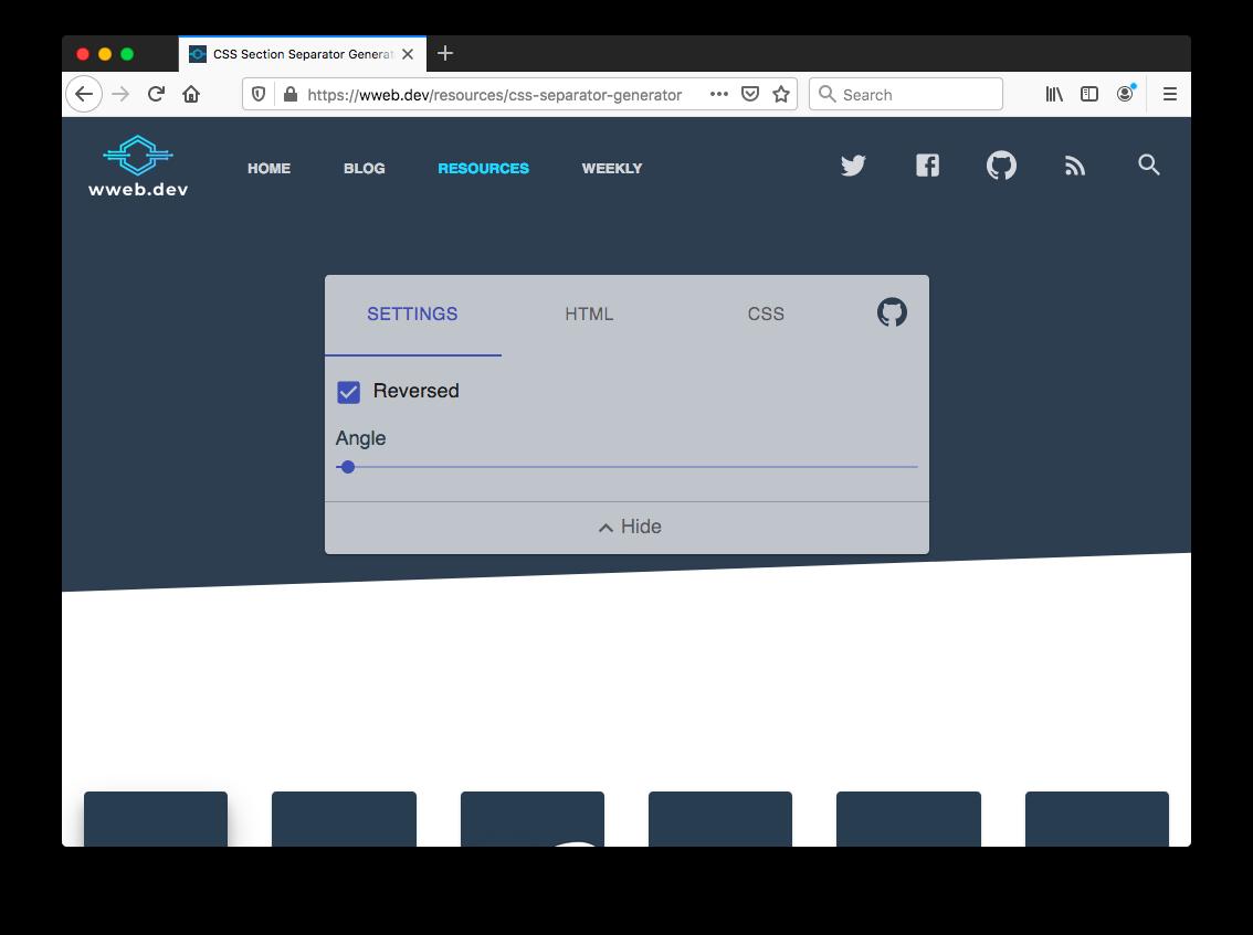 CSS Section Separator Generator