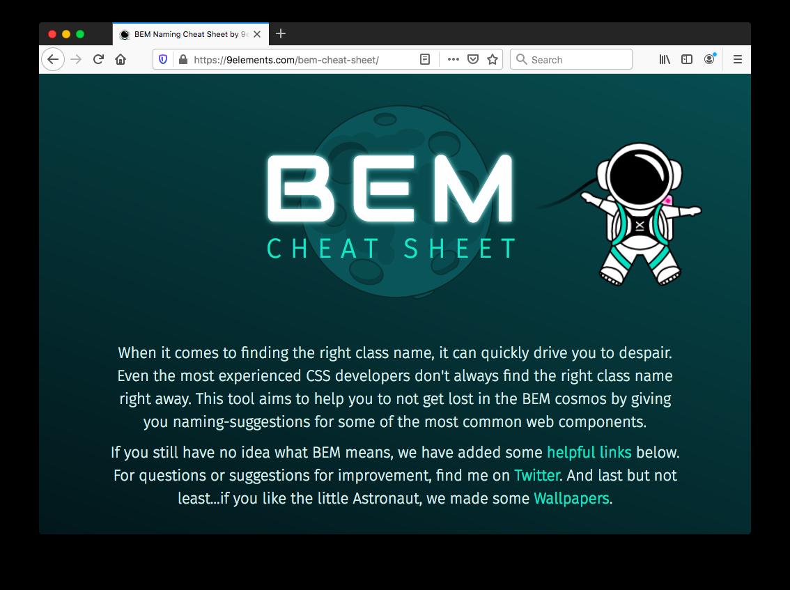 BEM Naming Cheat Sheet