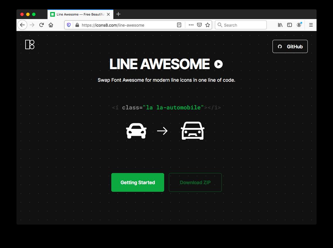 Line Awesome