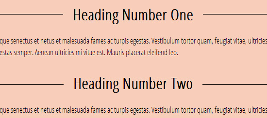 Centered Heading Overlaying a Horizontal Line with CSS