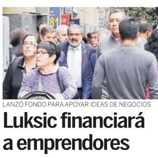 Luksic financiará a emprendedores