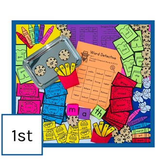 IMSE Orton-Gillingham Printable Classroom Activity Set - Grade 1
