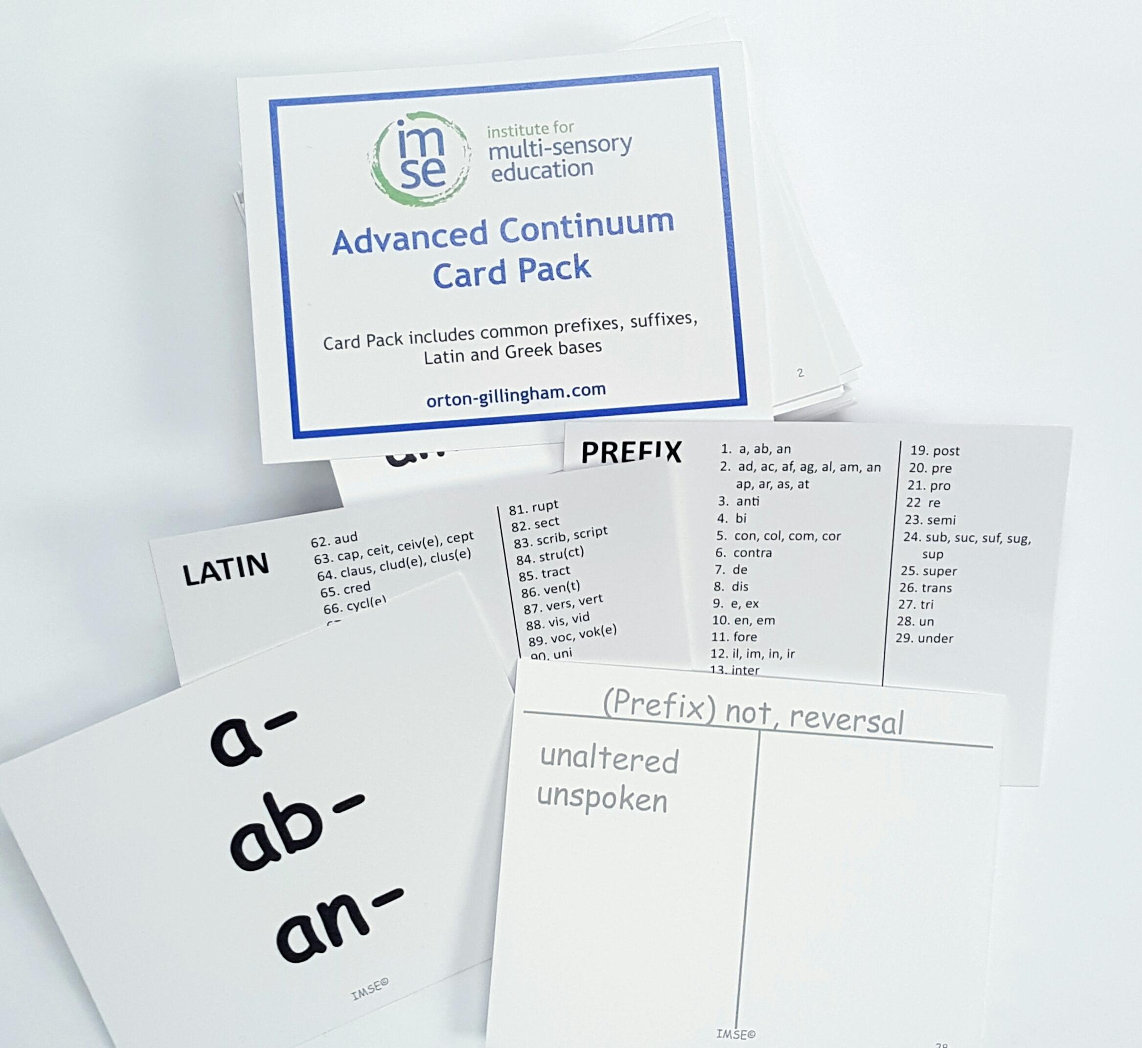 Morpheme Card Pack