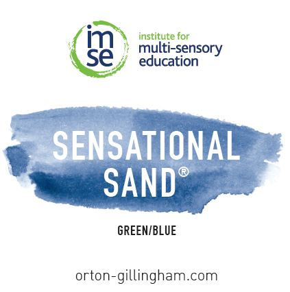 Sensational Sand 2lb. Green/Blue