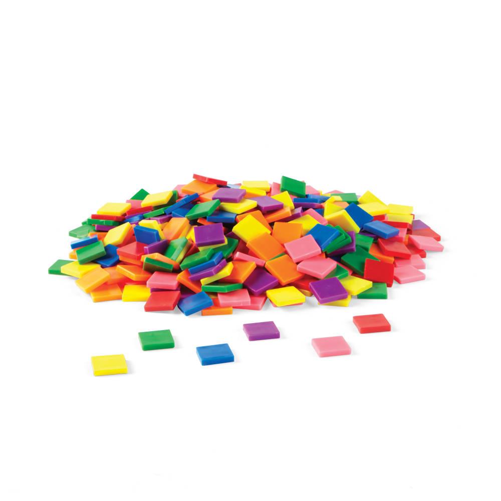 Rainbow Color Tiles, Set of 400