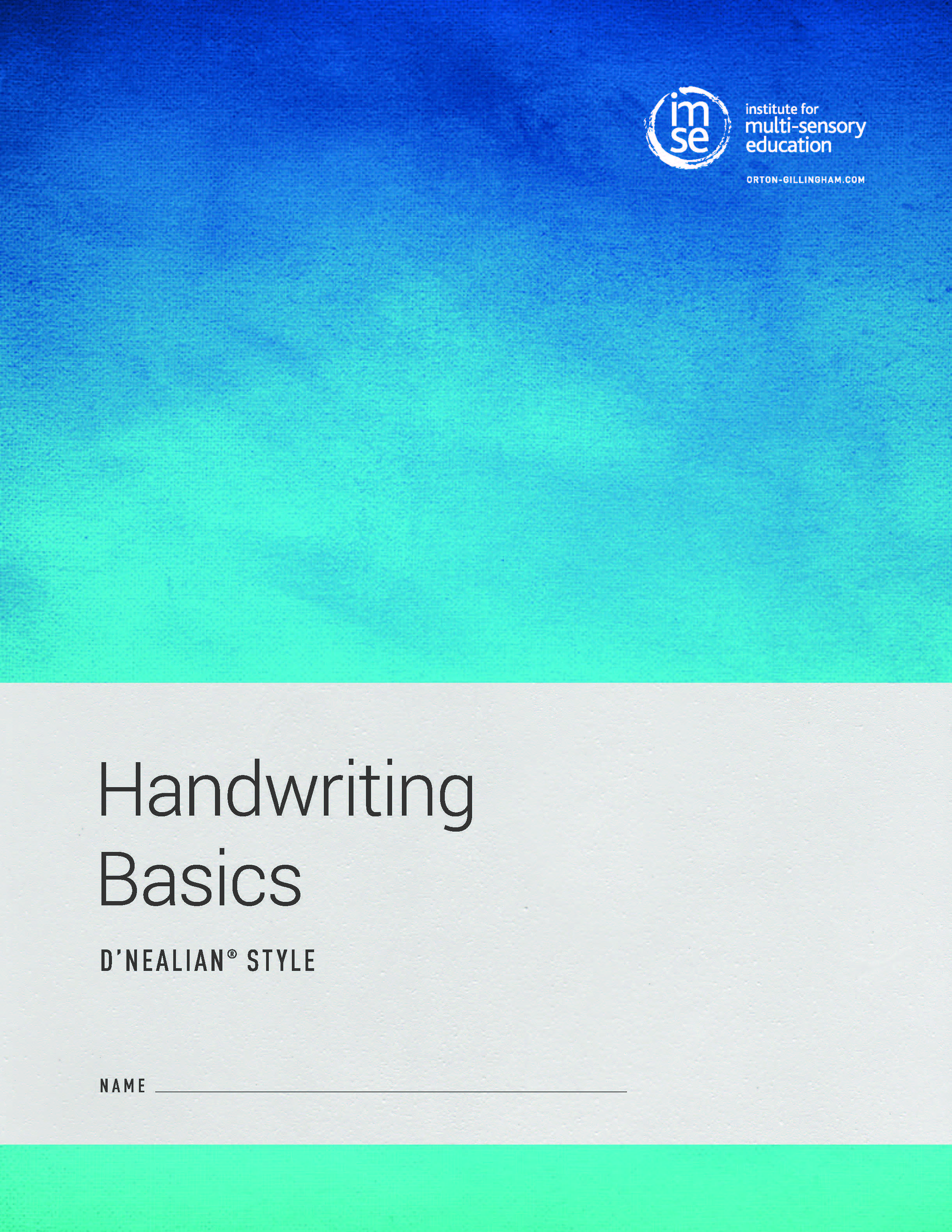 Handwriting Basics D'Nealian