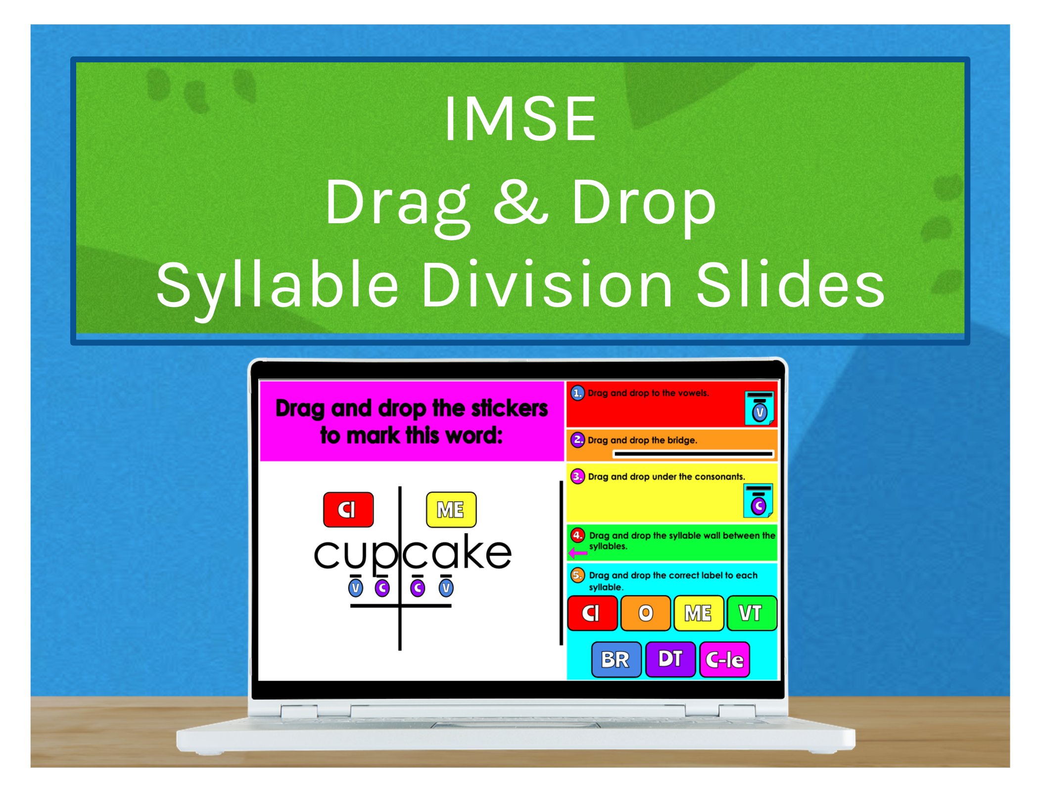 IMSE Drag & Drop Syllable Division Slides
