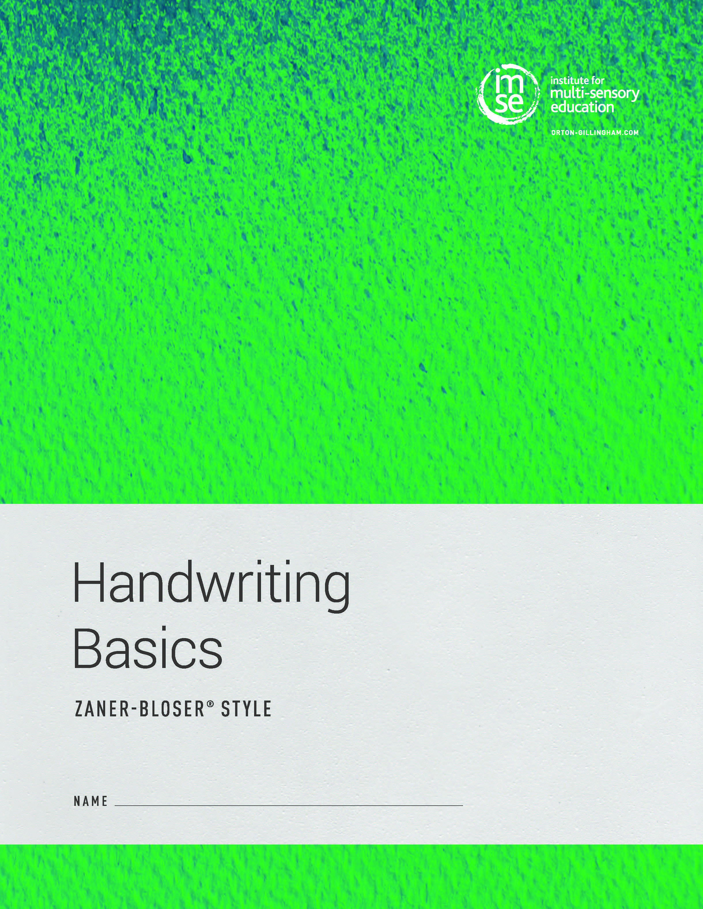 Handwriting Basics Zaner-Bloser