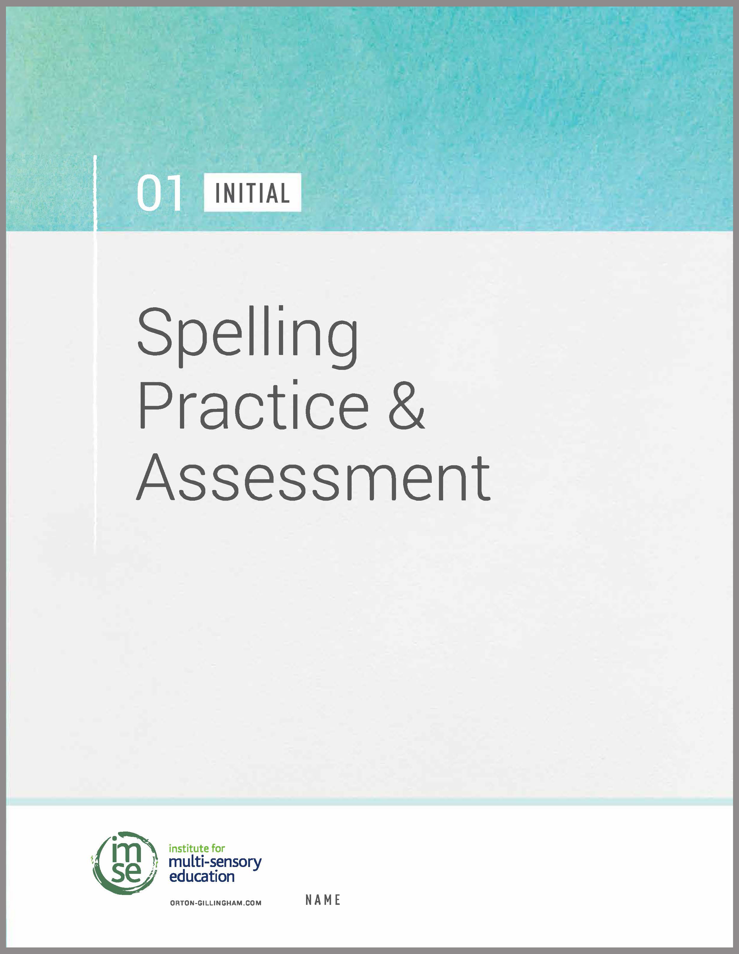 Level 01 Spelling Practice and Assessment - Initial