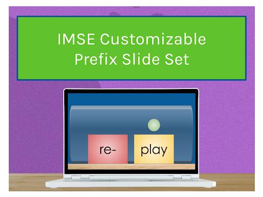 IMSE Customizable Prefix Slide Set