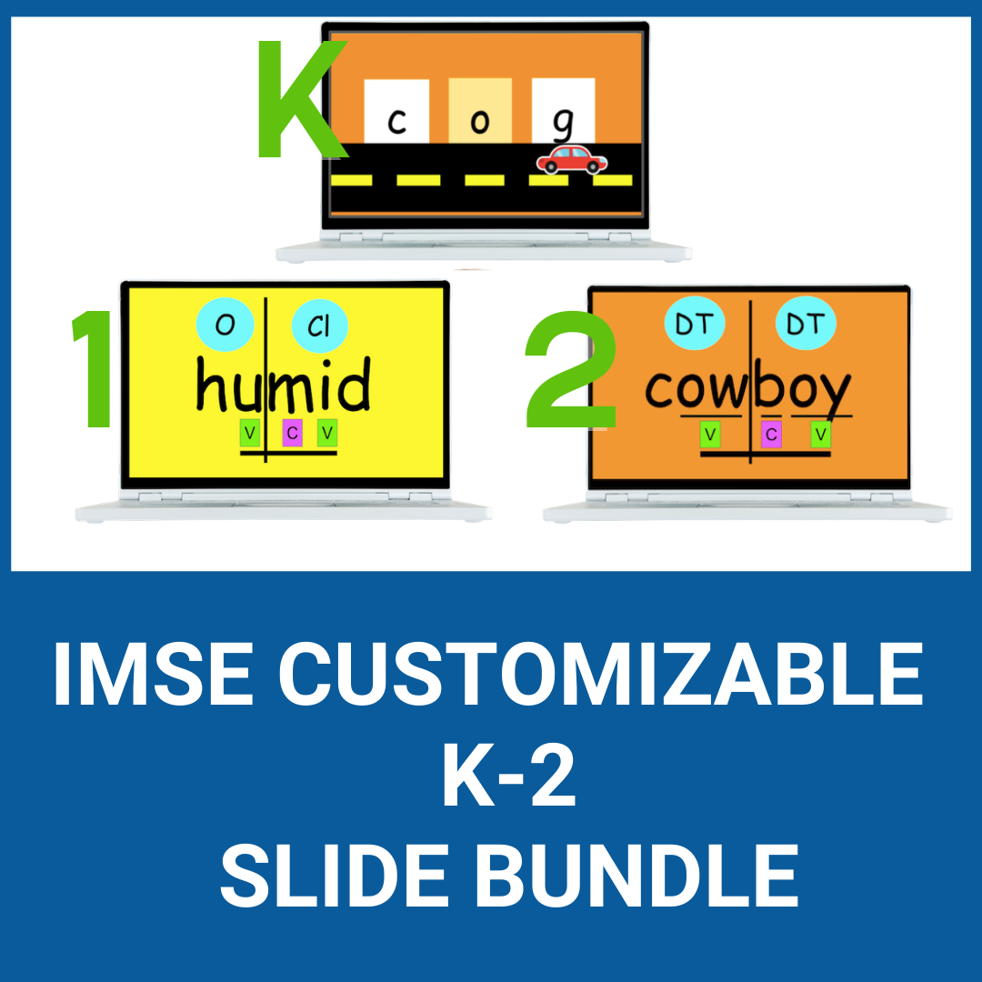 IMSE Customizable K-2 Slide Bundle