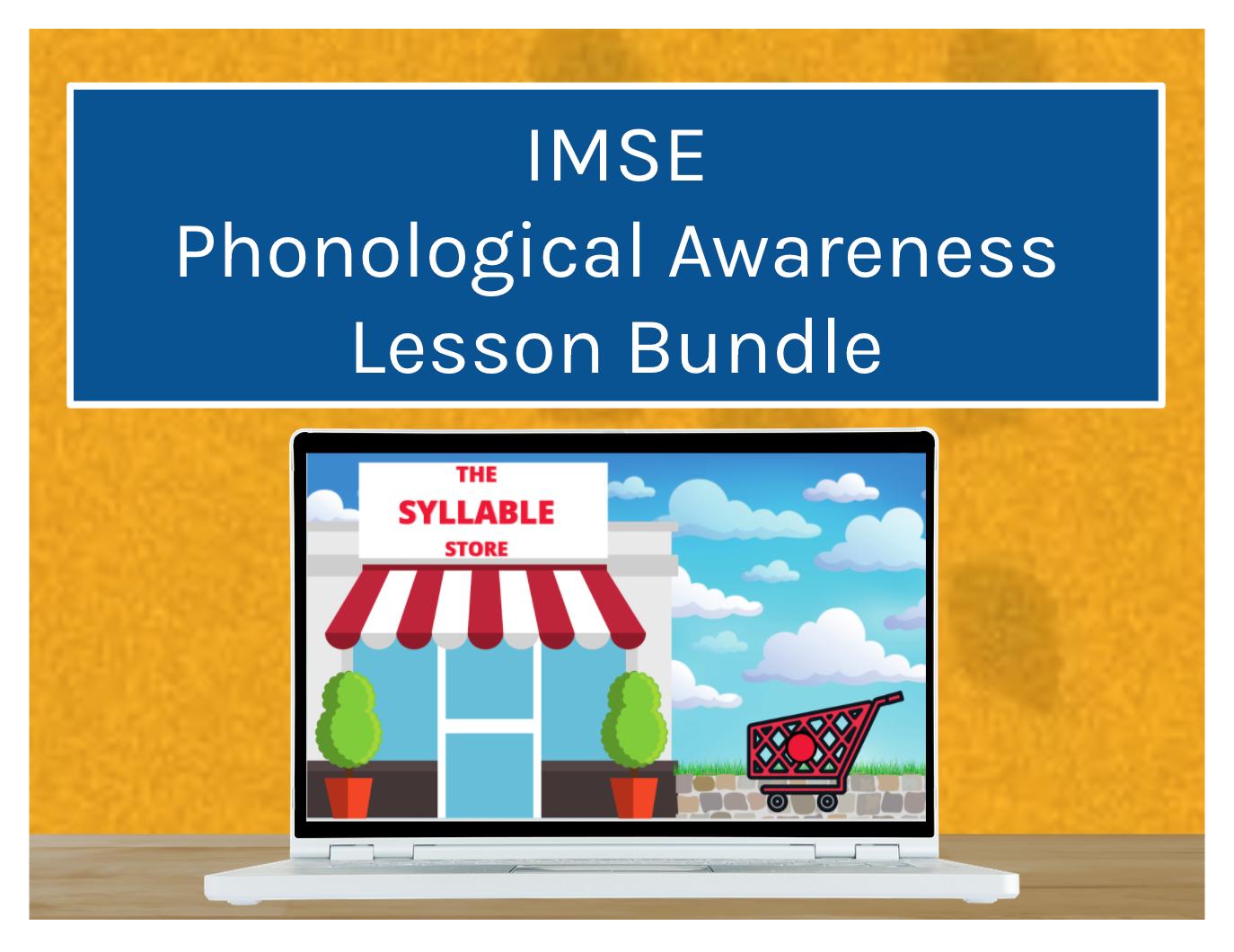 IMSE Phonological Awareness Lesson Bundle