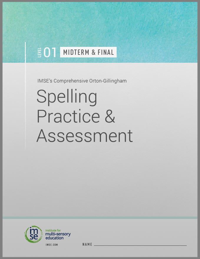 Level 01 Spelling Practice and Assessment Midterm and Final