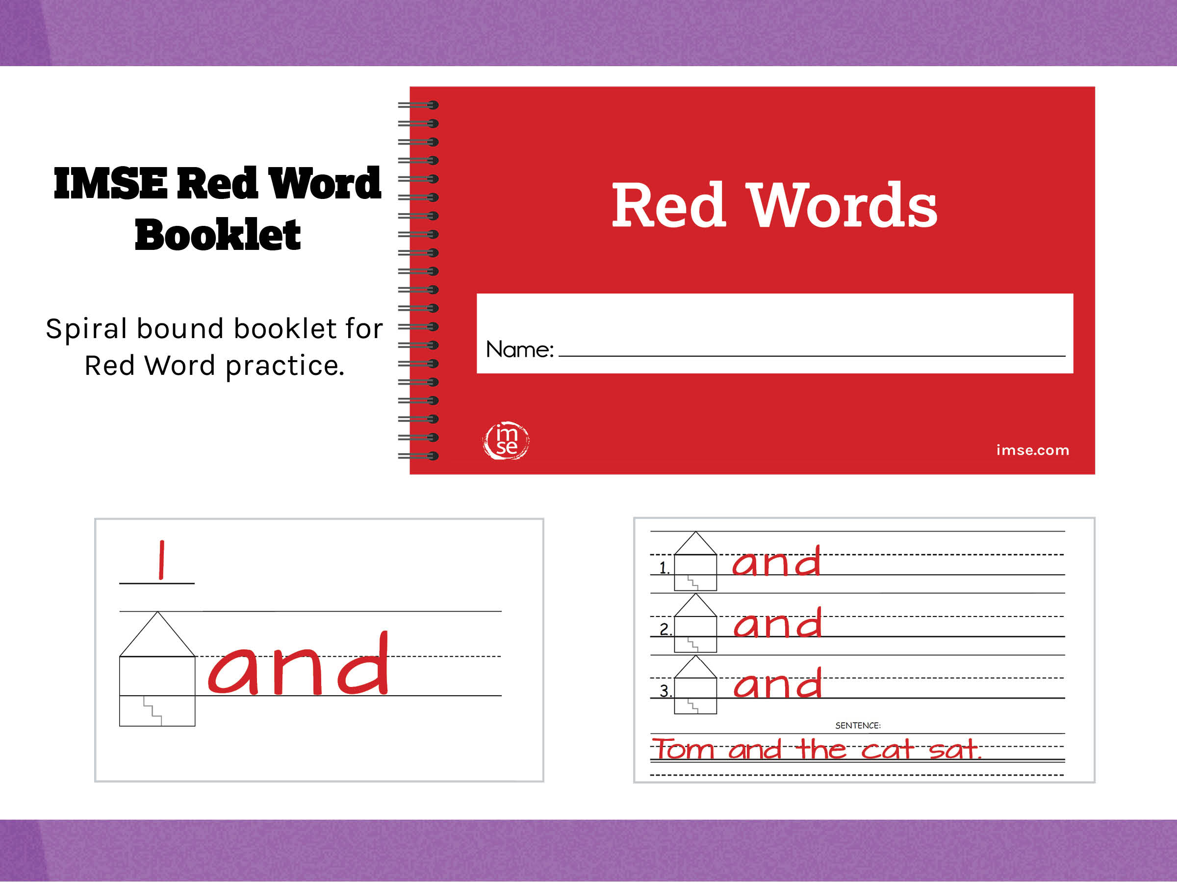 Red Word Booklet