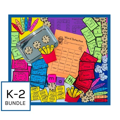 IMSE Orton-Gillingham Printable Classroom Activity Bundle - Grades K-2