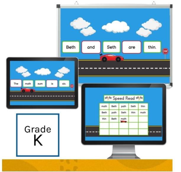 IMSE Kindergarten Orton-Gillingham Fluency Slide Set