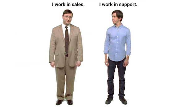 Sales vs. Support