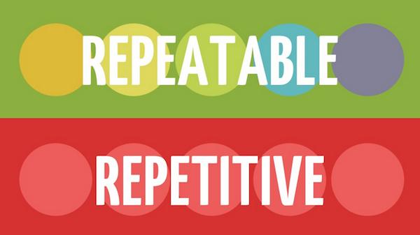 Repeatable vs. Repetitive