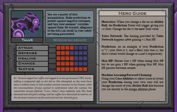 Talus Card Back for Raid Boss Cooperative Tabletop RPG